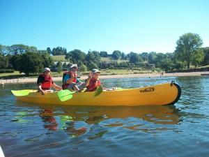 Balade en canöe kayak à la Salvetat