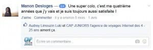 Avis Facebook CapJuniors