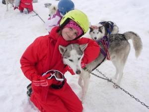 colonie de vacances neige chiens de traineaux