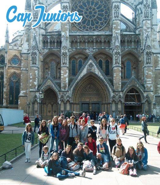 Groupe d'élèves en séjour linguistique en Angleterre