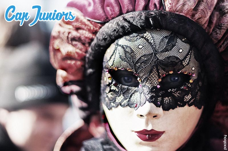 Portrait d'un masque de Venise en Italie
