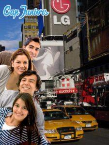 4 jeunes découvrant la ville de New-York